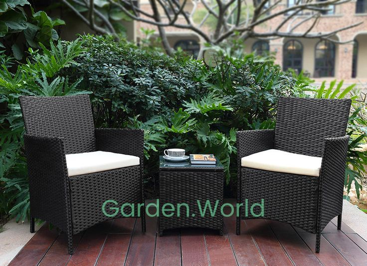 2 chair and table rattan garden furniture set patio wicker outdoor