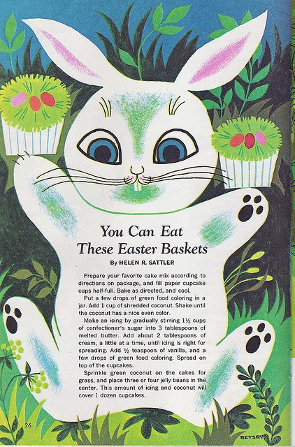 Easter Cupcake Bunny, from the April 1966 issue of Jack and Jill magazine