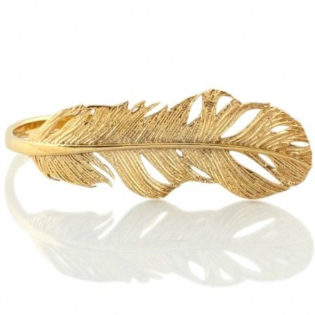 Image of FEATHER SIGNATURE RING GOLD