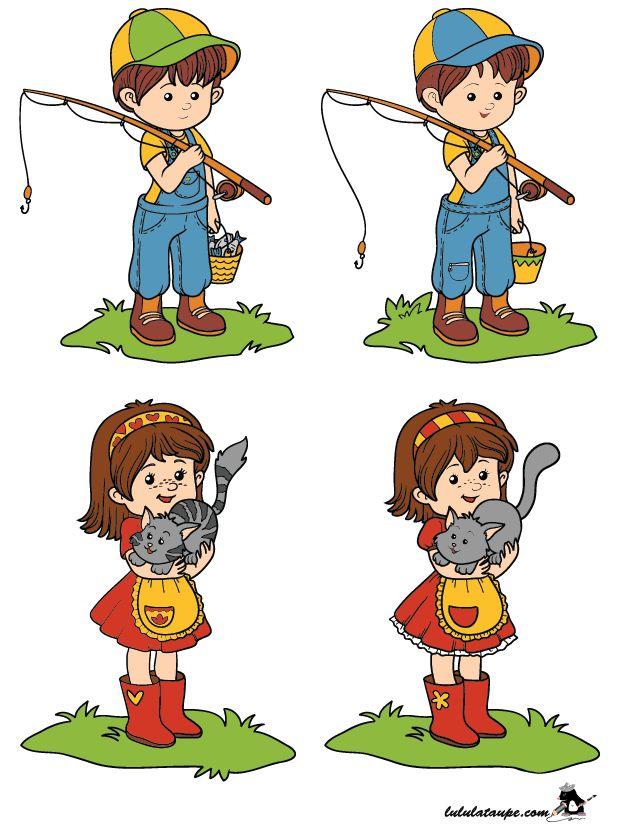 Jeu gratuit des 10 différences à imprimer   Jeux gratuits pour enfants, Jeux gratuit, A imprimer