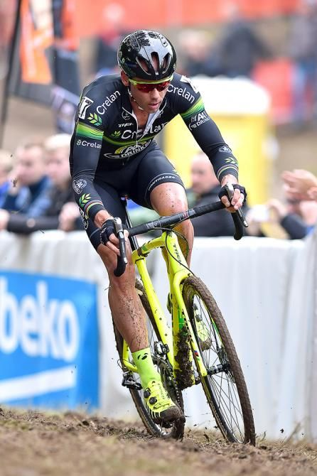 Sven Nys in action at Valkenburg. Just because