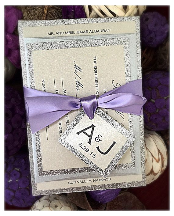 Wedding Invitation lilac wedding invitation Lilac by VPElegance
