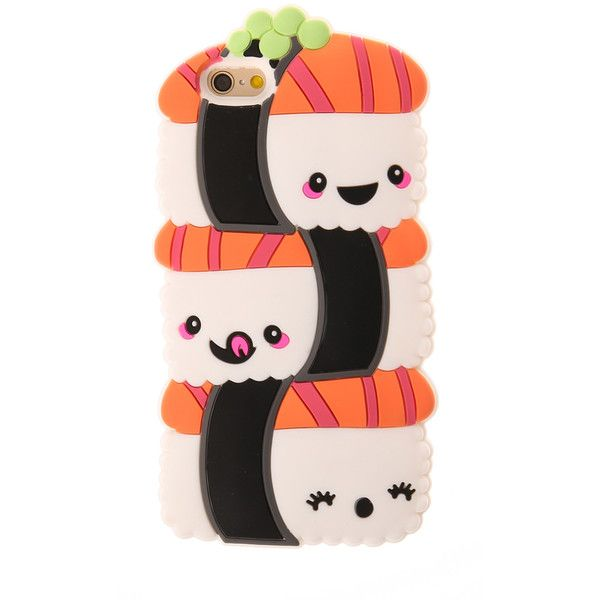 3D Trio of Sushi Phone Case Phone 6/6S ($12) ❤ liked on Polyvore featuring accessories and tech accessories