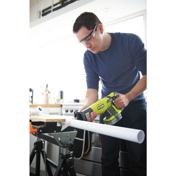 Great for cutting plastic pipes! This Ryobi 18V Cordless Reciprocating Saw | Power Tools | Ryobi Tools