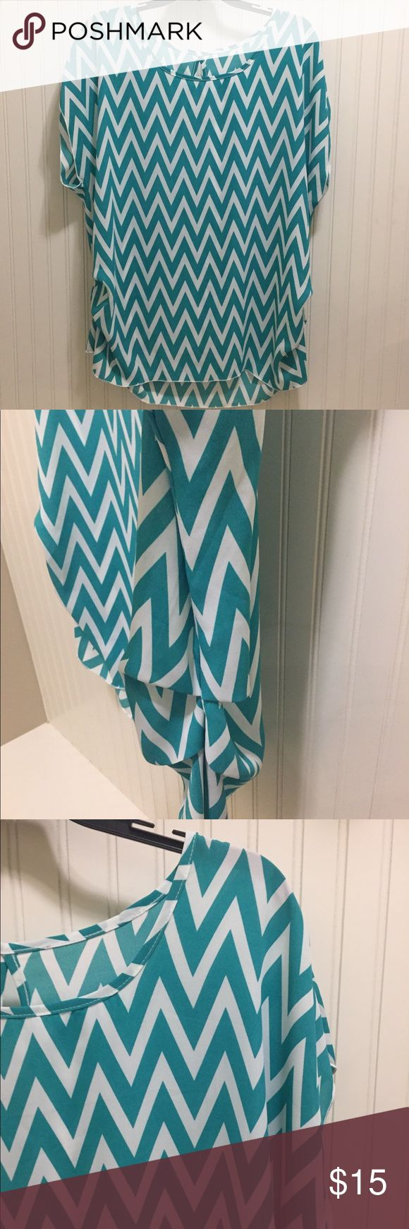 Cute ruched side chevron blouse Cute ruched side chevron blouse Tops Blouses