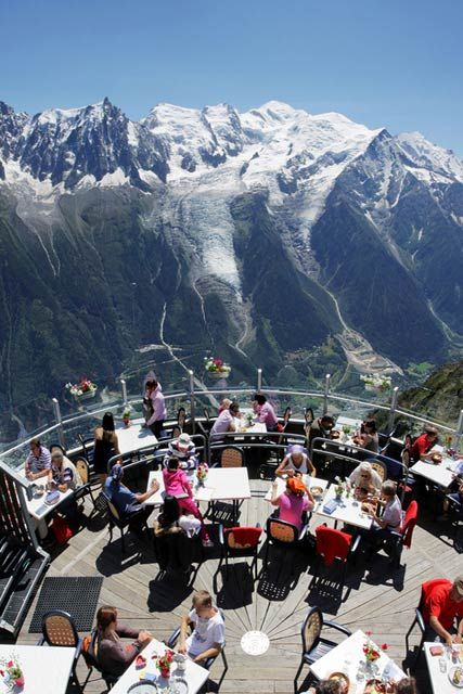 Chamonix Mont-Blanc, France - great spot for a lunch!