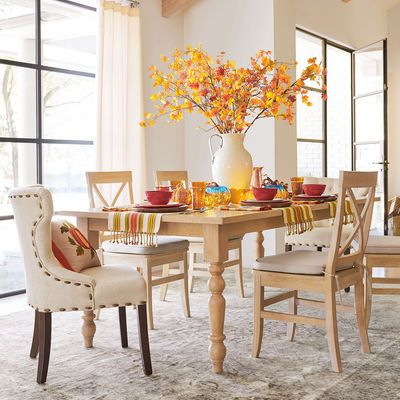Build Your Own Torrance Whitewash & Hourglass Chair Dining Collection