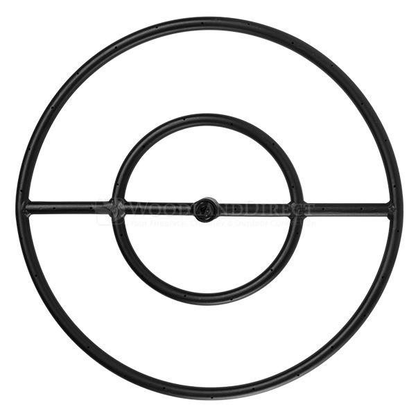 "Round Match Lit Fire Pit Ring Insert - Black - 18"" | WoodlandDirect.com: Outdoor Fireplaces: DIY, HPC #LearnShopEnjoy"