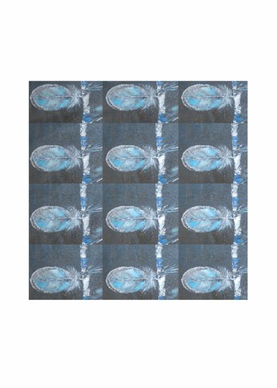 The Feather Blues Square scarf
