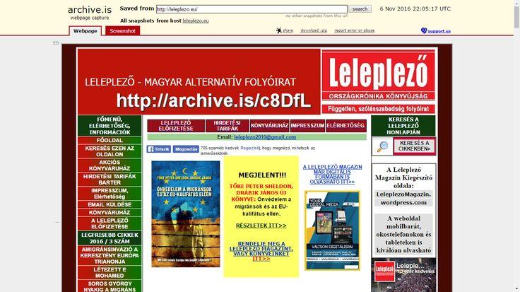 leleplezo.eu weboldal archívuma: http://archive.is/c8DfL