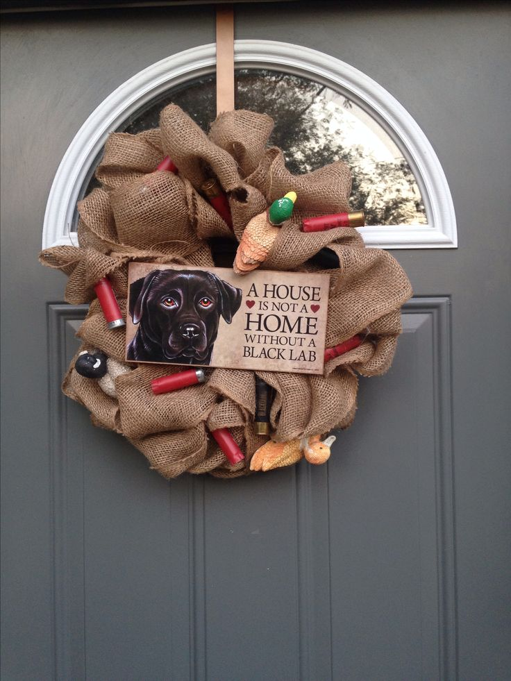 Duck hunting wreath