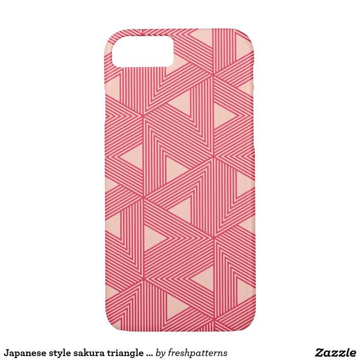 Japanese style sakura triangle pattern