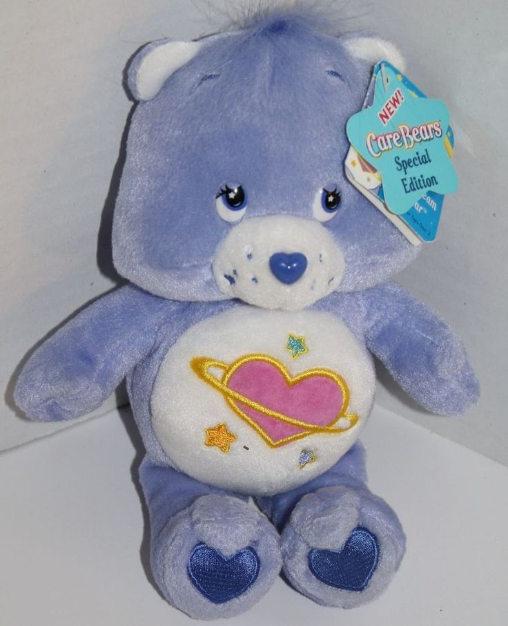 """Day Dream Care Bear 9"""" Plush Blue Purple Stuffed Animal Lovey Toy New 2004 #CareBears #AllOccasion"""
