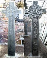 The Kilmory Cross was erected around 1500 for Alexander MacMillan, son of Lachlan Og, MacMillan Chief, at Kilmory chapel, South Kintyre.