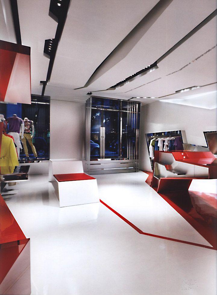 Retail design store interiors shop design visual for Milano design shop
