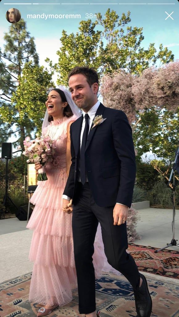 Mandy Moore's Wedding Dress Was Pink and