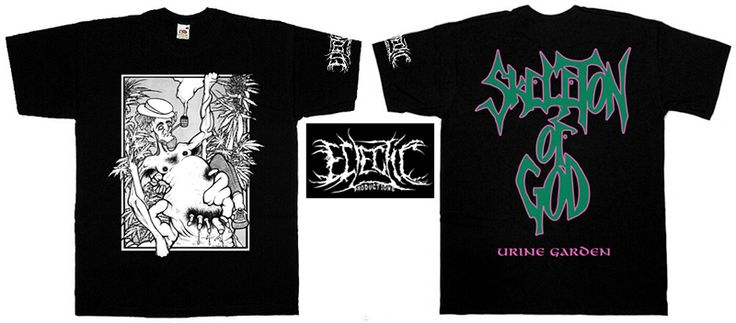 """SKELETON OF GOD """"Urine Garden"""" t-shirt 