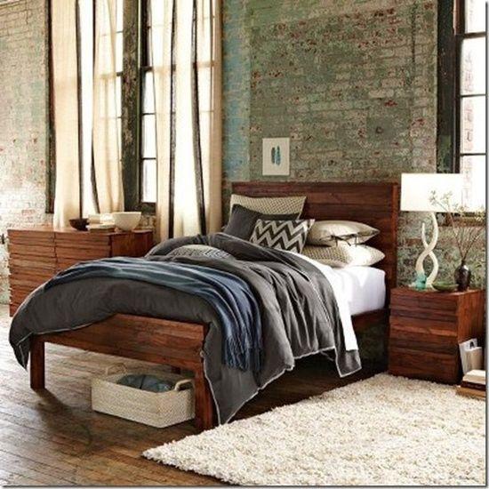 Gorgeous loft style bedroom.
