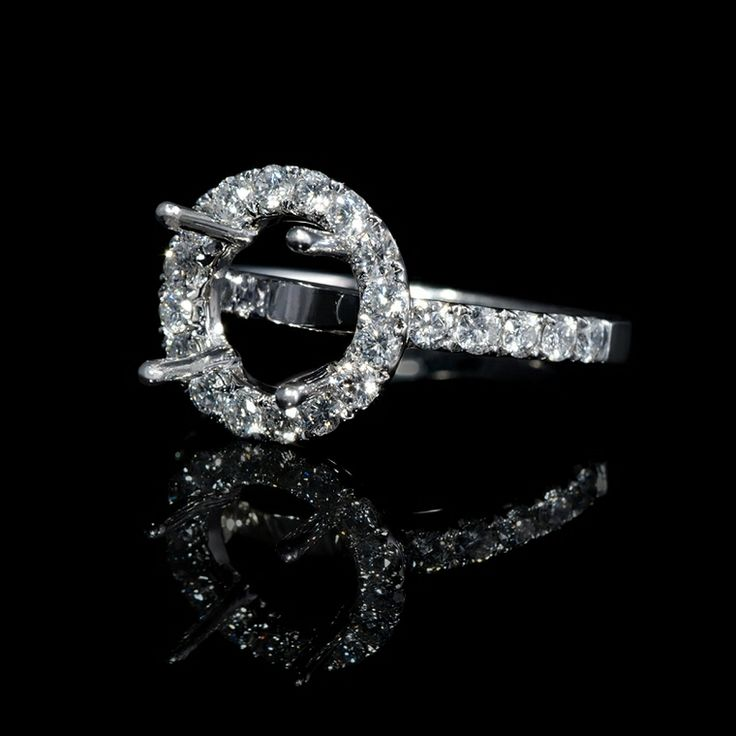 Diamond Engagement Rings Halo Setting  anillos boda