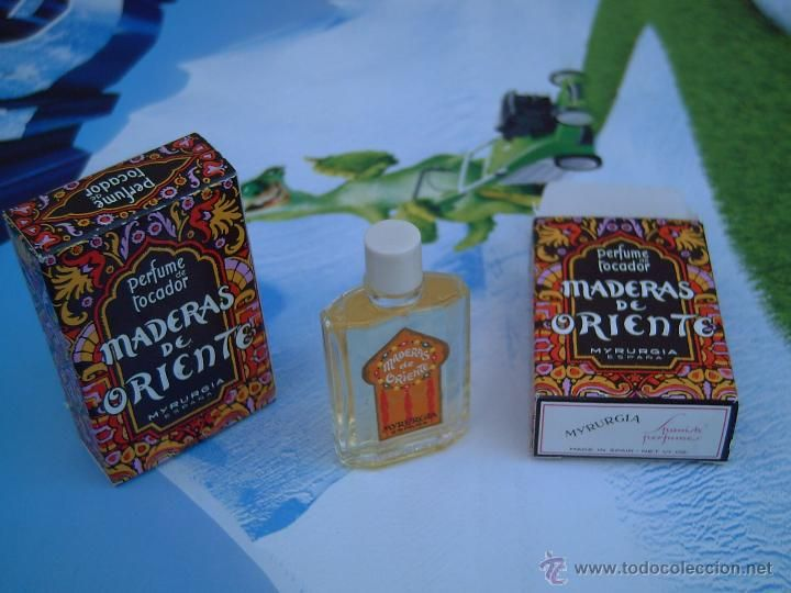 miniatura de perfume de tocador maderas de oriente de myrurgia de