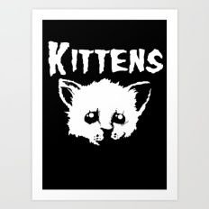 Goth Kittens Art Print