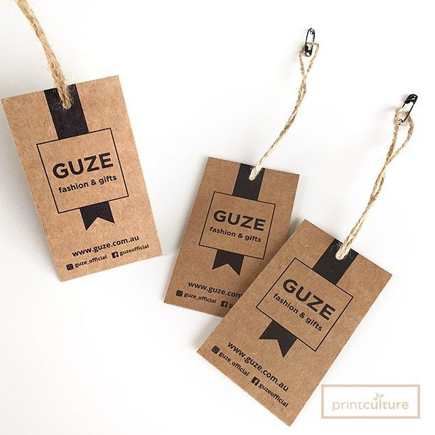 Swing Tags on 250gsm Craft with Jute Twine Strings. Tag strings are available @printcultureco.