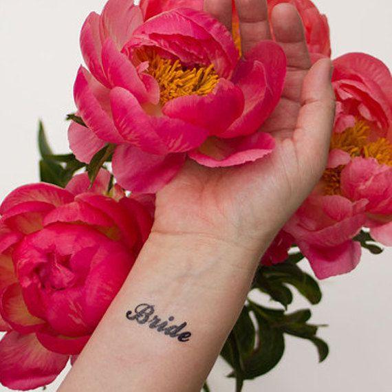 Sposa tatuaggio temporaneo tatuaggio di Font calligrafia
