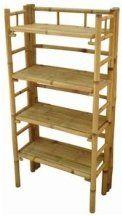 Regal BAMBUS 120x60x30cm Bambusregal Bücherregal Bambusmöbel Pflanzregal Etagere