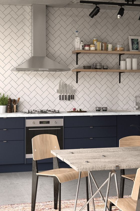 industry blue kitchen inspiration and ideas kaboodle kitchen rh pinterest com