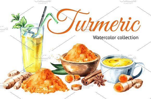 Turmeric Turmeric Turmeric Benefits Illustration Art Design