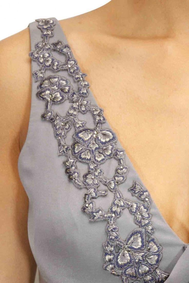 Grey Colour Saree Gown – Panache Haute Couture