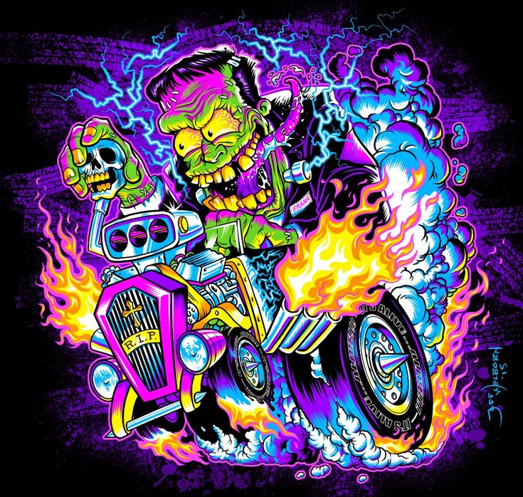 Frankenstein Hot Rod Drawings | The ARt of Jeff Welborn