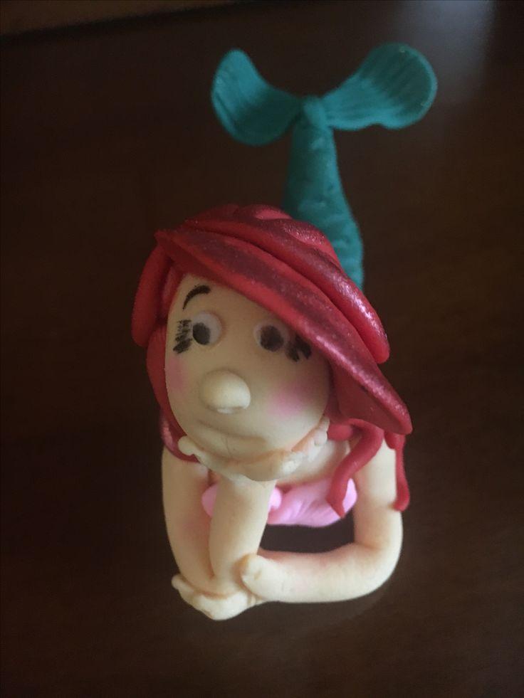 Ariel fondant figurine