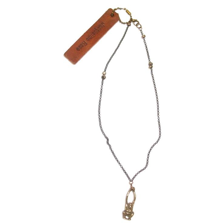 JACQUELINE ROSE Monkey Pendant Necklace