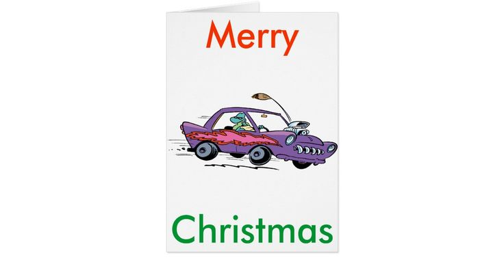 This Turtle muscle car Christmas card is 50% off as well as calendars and posters are 60% off. #zazzleproducts #cartoonchristmascards #merrychristmascard #cyberweek