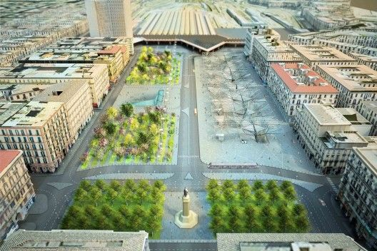 Piazza Garibaldi / Dominique Perrault Architecture Located in Naples, the Piazza Garibaldi, designed by Dominique Perrault Architecture, is one of the most important and complex transportation hubs in the Neapolitan transportation system. This infrastructure project, which includes a metro station, offers the opportunity to upgrade this lively urban space bustling with activity. More images and architects' description after the break.