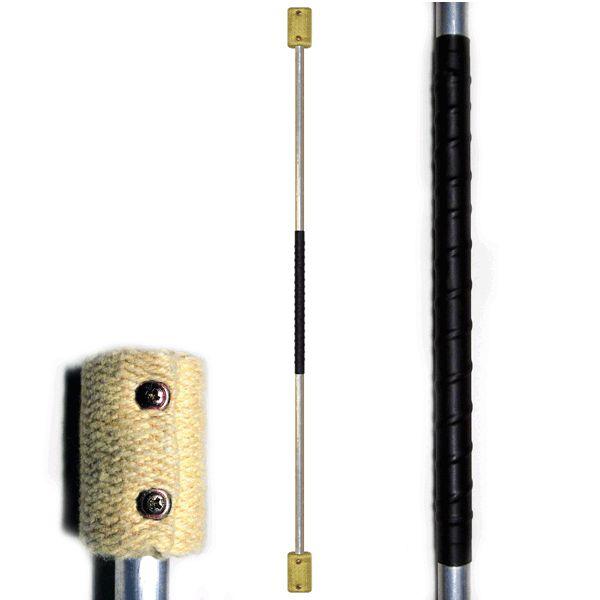 FIRE SPINNING STAFF: 140cm/1400mm (55 inch) with 65mm (2.5inch) KEVLAR wicks - $60 - Fyregear AUSTRALIA www.fyregear.com