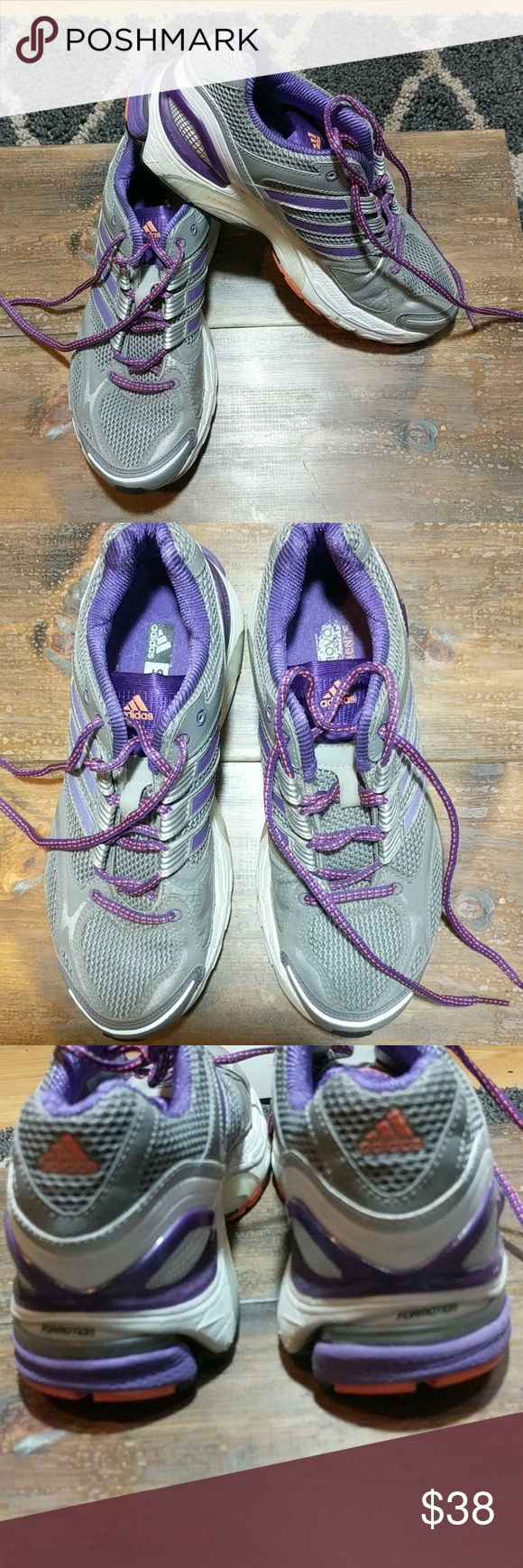 Adidas Supernova Sequence Running Shoes size 8 GUC, gray and purple running shoes adidas Shoes Sneakers