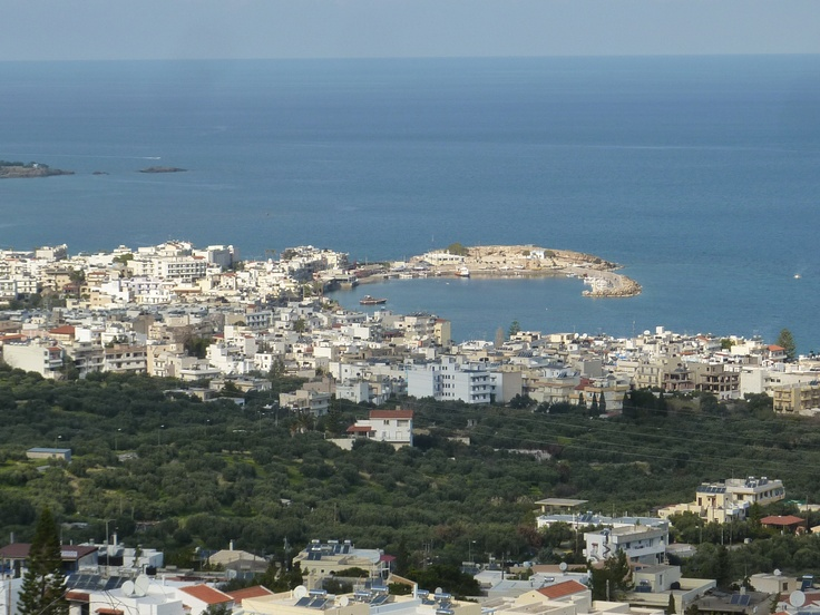 Hersonissos Port from above
