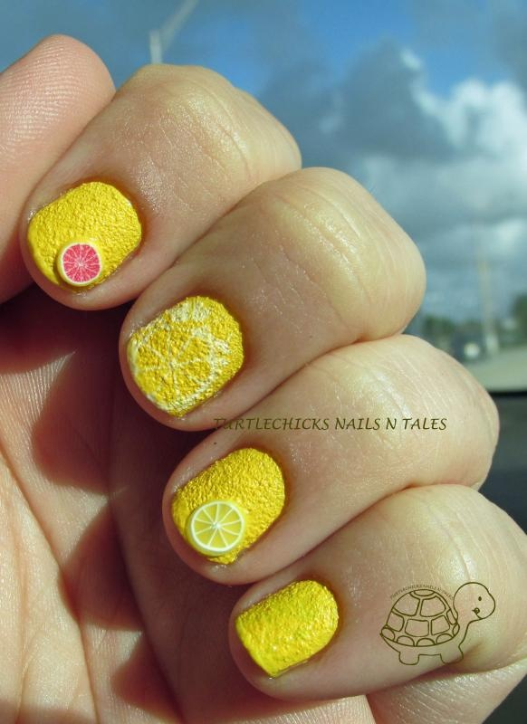 Turtlechick's Nails N Tales: Lemon Nails