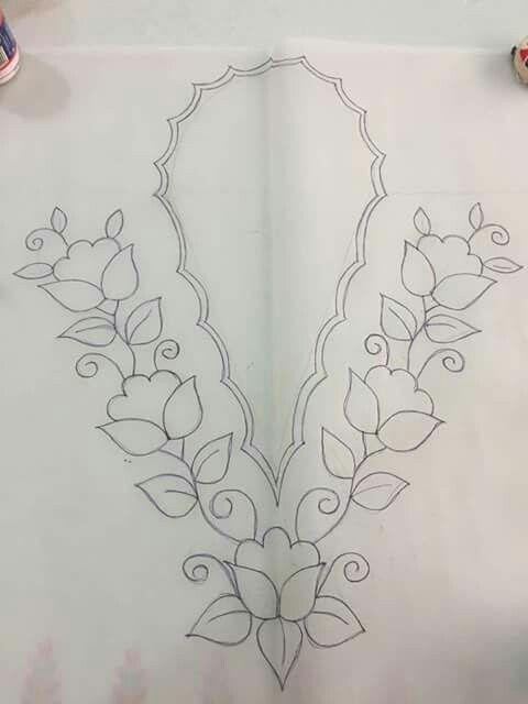 Flores para cuello | Bordado | Pinterest | Embroidery patterns ...