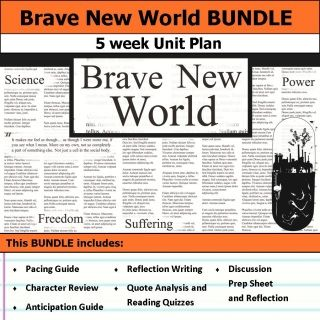 best brave new world characters ideas new now  brave new world unit 5 weeks of lesson plans includes pacing guide film essay