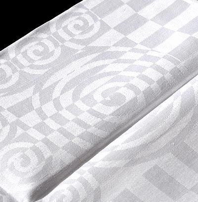 Found on www.botterweg.com - Damask finger cloths 4x Spiraalmotief 5th series no.563 design Chris Lebeau 1932 executed by E.J.F.van Dissel Zn Eindhoven / the Netherlands