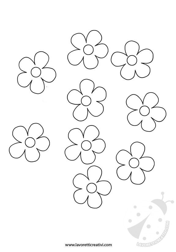 GHIRLANDA DI PRIMAVERA Sagome utili per realizzare una ghirlanda con i fiori da attaccare alle porte e ai vetri delle finestre di scuola nel periodo di Pri