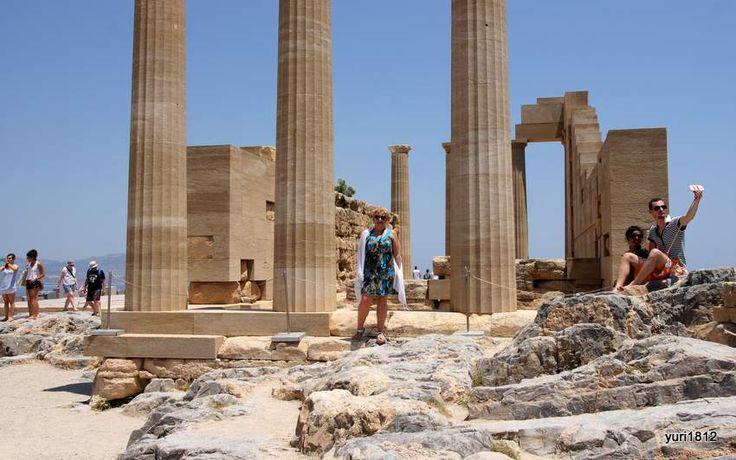 Акрополь Линдоса, остров Родос. Храм Афины Линдии