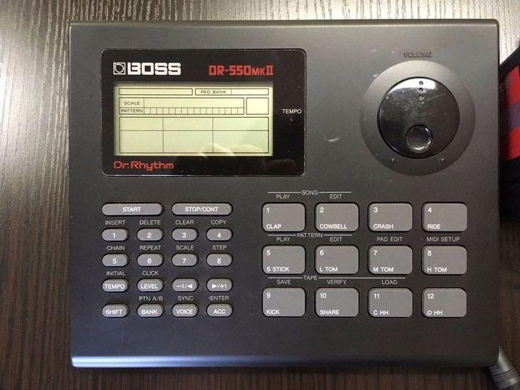 Boss Dr. Rhythm DR-550 MK 2 Rhythm Drum Machine Roland Corporation Made in Japan #Boss