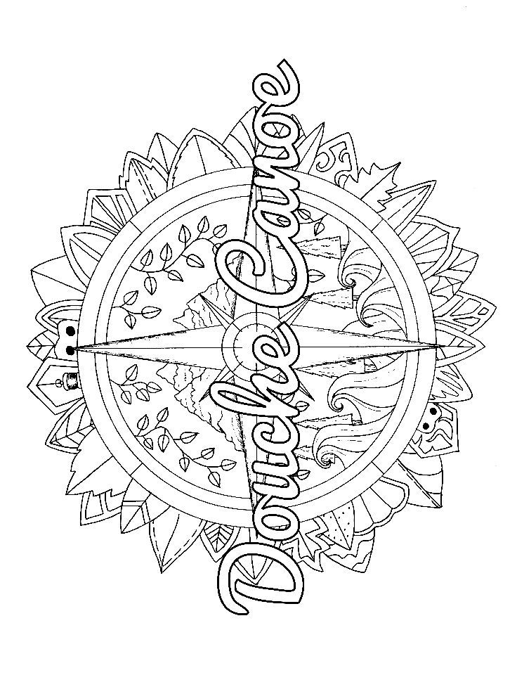 Compass Adult Coloring Page Swear 14 Free Printable Coloring