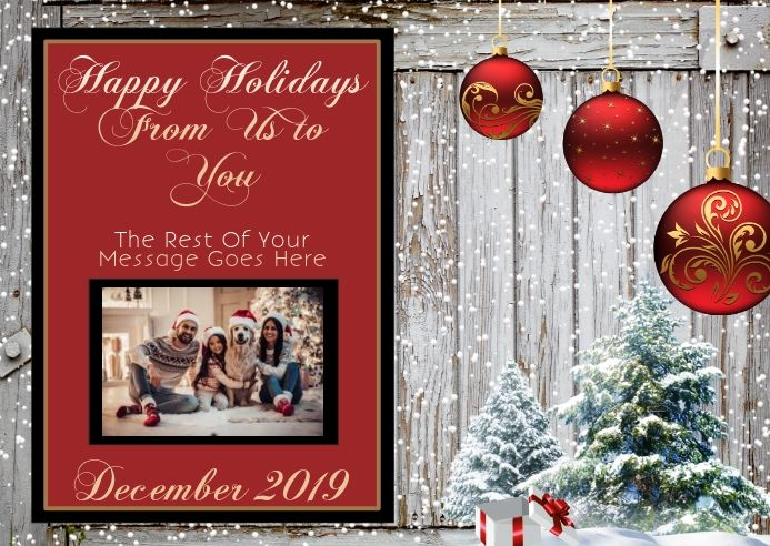 Holiday Christmas Card Template Christmas Card Template Family Christmas Card Photos Christmas Photo Cards