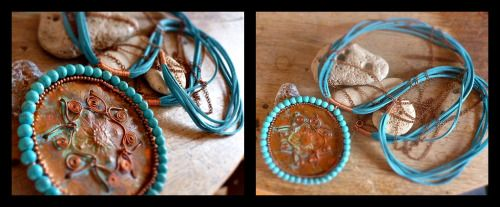 Copper and #turquoisenecklace
