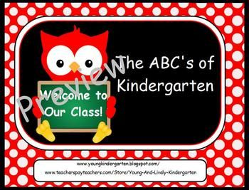 ABCs of Back to School Owls PowerpointOriental And Or, Schools Night, Open House, Schools Ideas, Schools Owls, Owls Powerpoint, Time Kindergarten, Kindergarten Klub Com, Parents Oriental